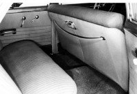 front seat of 1951 Chevrolet
