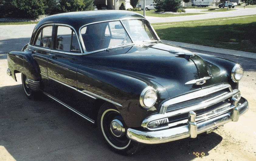 Laura jepsen 39 s car 1951 chevrolet 4 door sedan for 1951 chevy deluxe 4 door for sale