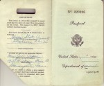 Inside Cover of Passport