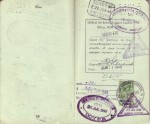 Pages 10 & 11 of 1948 Passport
