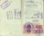 Pages 14 & 15 of 1948 Passport