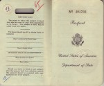 Inside Cover of Laura's 1954 Passport