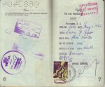 Pages 6 & 7 of Laura's 1972 Passport