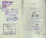 Pages 8 & 9 of Laura's 1972 Passport